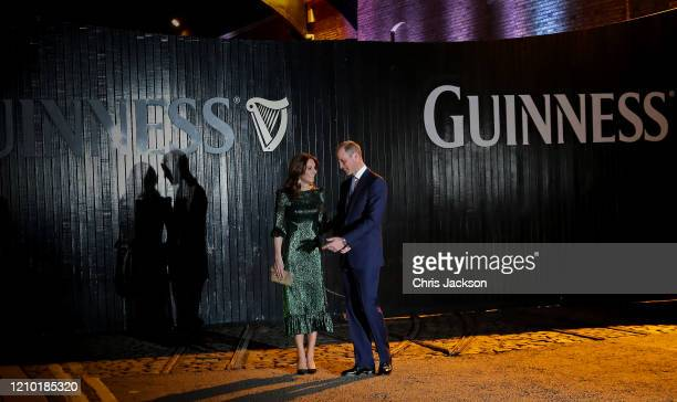 Catherine, Duchess of Cambridge and Prince William, Duke of Cambridge attend a reception hosted by Britain's Ambassador to Ireland at the Gravity Bar...
