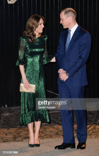 Catherine, Duchess of Cambridge and Prince William, Duke of Cambridge arrive at the Guinness Storehouse's Gravity Bar during day one of their visit...