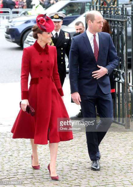 Catherine, Duchess of Cambridge and Prince William, Duke of Cambridge attend the Commonwealth Day Service 2020 at Westminster Abbey on March 09, 2020...