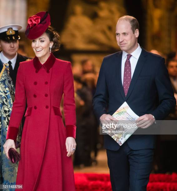 Catherine Duchess of Cambridge and Prince William Duke of Cambridge attend the Commonwealth Day Service 2020 on March 09 2020 in London England