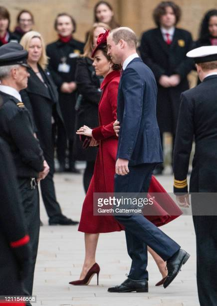 Catherine Duchess of Cambridge and Prince William Duke of Cambridge attend the Commonwealth Day Service 2020 at Westminster Abbey on March 09 2020 in...