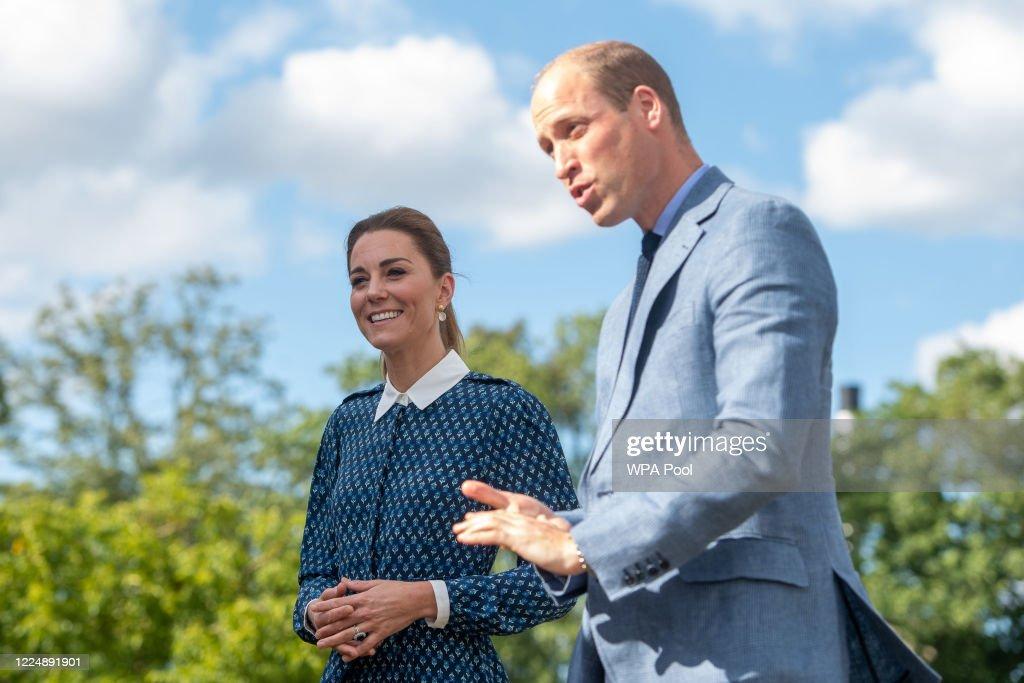 The Duke and Duchess of Cambridge Visit Queen Elizabeth Hospital : News Photo