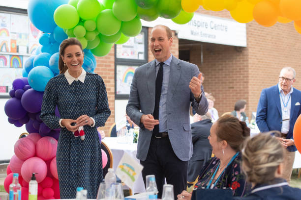GBR: The Duke and Duchess of Cambridge Visit Queen Elizabeth Hospital