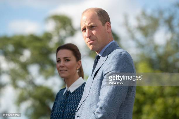 Catherine, Duchess of Cambridge and Prince William, Duke of Cambridge visit to Queen Elizabeth Hospital in King's Lynn as part of the NHS birthday...