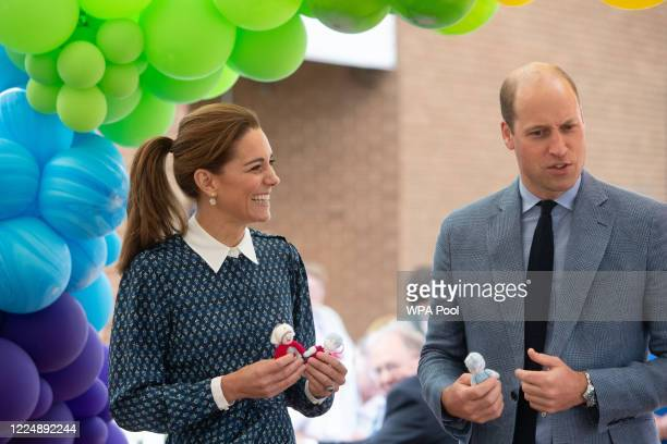 Catherine Duchess of Cambridge and Prince William Duke of Cambridge visit to Queen Elizabeth Hospital in King's Lynn as part of the NHS birthday...