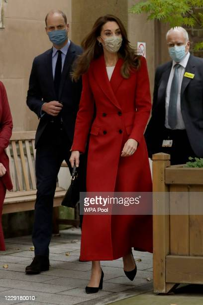 Catherine Duchess of Cambridge and Prince William Duke of Cambridge arrive at St Bartholomew's Hospital to attend an event to mark the launch of the...