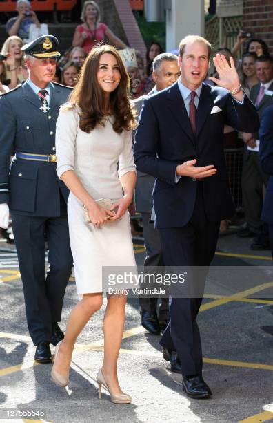 Catherine Duchess of Cambridge and Prince William Duke of Cambridge arrive to open the new Oak Centre for Children and Young People at Royal Marsden...