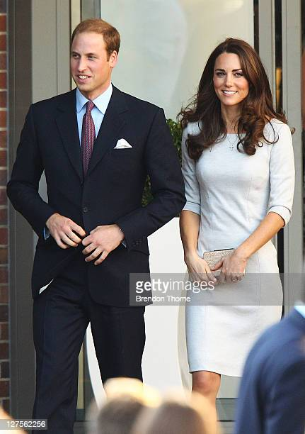 Catherine Duchess of Cambridge and Prince William Duke of Cambridge leave the Royal Marsden Hospital on September 29 2011 in London England Prince...
