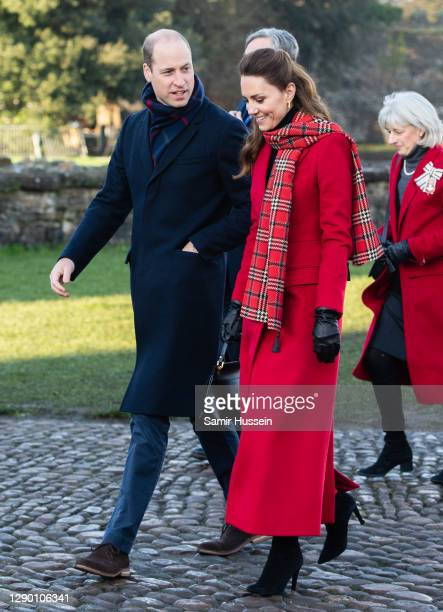 Catherine, Duchess of Cambridge and Prince William, Duke of Cambridge visit to Cardiff Castle on December 08, 2020 in Cardiff, Wales.