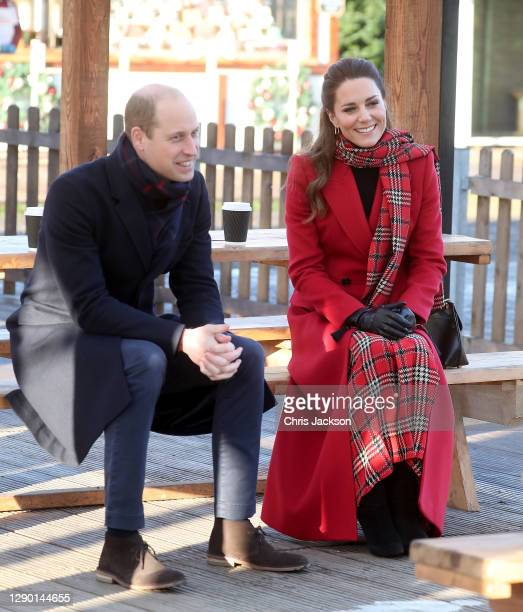 Catherine, Duchess of Cambridge and Prince William, Duke of Cambridge visits Cardiff Castle on December 08, 2020 in Cardiff, Wales. The Duke And...