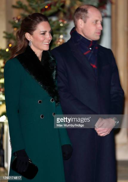 Catherine, Duchess of Cambridge and Prince William, Duke of Cambridge attend an event to thank local volunteers and key workers from organisations...