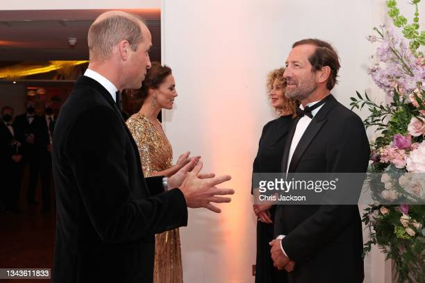 Catherine, Duchess of Cambridge and Prince William, Duke of Cambridge meet the Chairman of Universal, Dame Donna Langley and the Board Chairman Kevin...