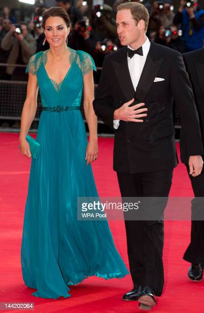 Catherine Duchess of Cambridge and Prince William Duke of Cambridge arrive at 'Our Greatest Team Rises BOA Olympic Concert' at the Royal Albert Hall...