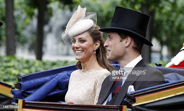 Catherine, Duchess of Cambridge and Prince William, Duke of Cambridge leave Westminster Hall after a Diamond Jubilee Luncheon given for The Queen by...