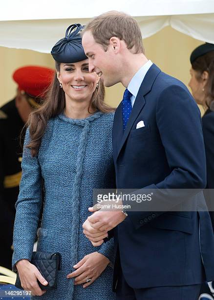 Catherine, Duchess of Cambridge and Prince William, Duke of Cambridge attend Vernon Park during a Diamond Jubilee visit to Nottingham on June 13,...