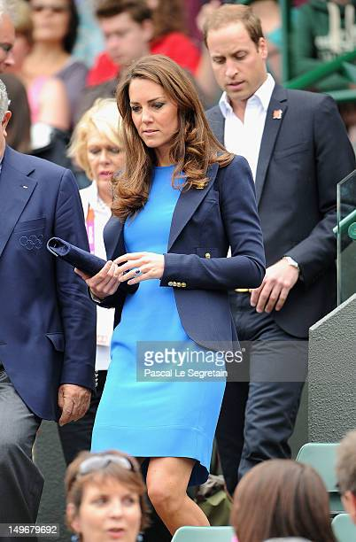 Catherine Duchess of Cambridge and Prince William Duke of Cambridge attend the match between Andy Murray of Great Britain and Nicolas Almagro of...