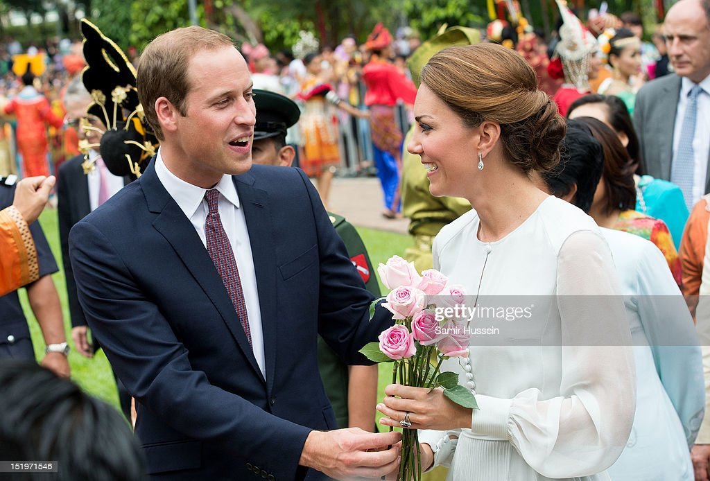 Catherine, Duchess of Cambridge and Prince William, Duke of Cambridge attend a cultural event on day 4 of Prince William, Duke of Cambridge and Catherine, Duchess of Cambridge's Diamond Jubilee Tour of the Far East on September 14, 2012 in Kuala Lumpur, Malaysia.