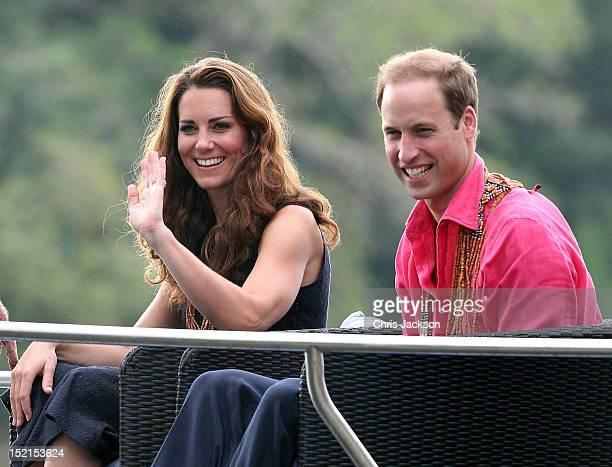 Catherine, Duchess of Cambridge and Prince William, Duke of Cambridge visit Tuvanipupu Island on their Diamond Jubilee tour of the Far East on...