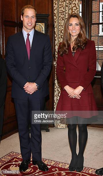 Catherine Duchess of Cambridge and Prince William Duke of Cambridge visit Middle Temple on October 8 2012 in London England The Duke of Cambridge...