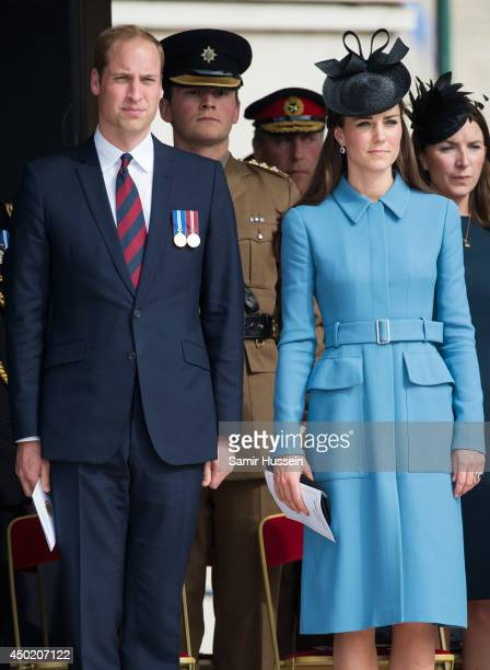 Catherine Duchess of Cambridge and Prince William Duke of Cambridge attend a service during the DDay 70 Commemorations on June 6 2014 in Arromanches...