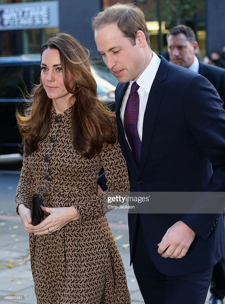 Catherine, Duchess of Cambridge and Prince William, Duke of Cambridge arrive for a visit to the Only Connect and ex-offenders projects on November 19, 2013 in London, England.