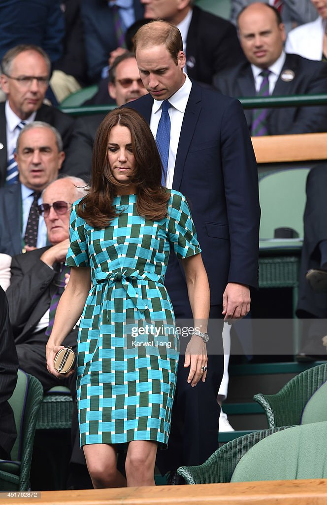 Celebrities Attend The Wimbledon Championships : News Photo