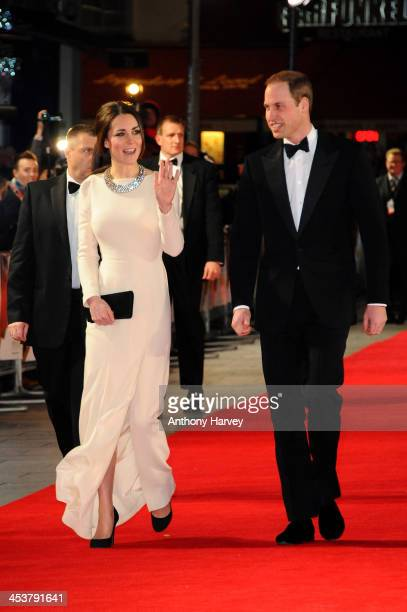 """Catherine, Duchess of Cambridge and Prince William, Duke of Cambridge attend the Royal film performance of """"Mandela: Long Walk to Freedom"""" on..."""
