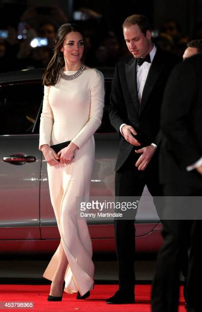 Catherine Duchess of Cambridge and Prince William Duke of Cambridge attend the Royal film performance of Mandela Long Walk To Freedom at Odeon...