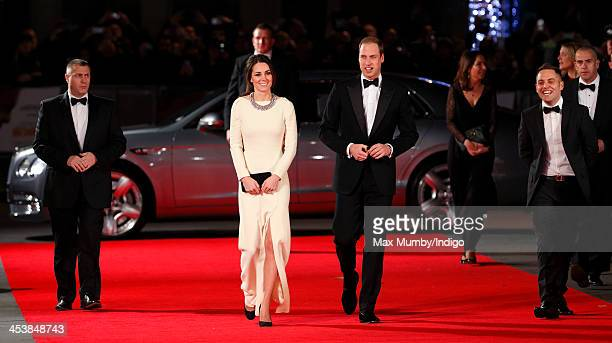 Catherine Duchess of Cambridge and Prince William Duke of Cambridge attend the Royal film performance of 'Mandela Long Walk to Freedom' at Odeon...