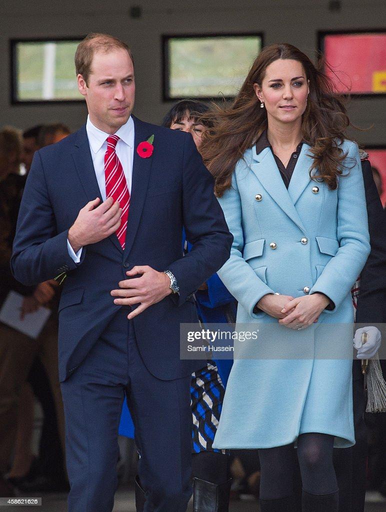Catherine, Duchess of Cambridge and Prince William, Duke of Cambridge visit Pembroke Refinery on November 8, 2014 in Pembroke, Wales.