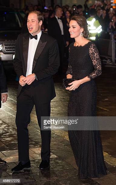 Catherine, Duchess of Cambridge and Prince William, Duke of Cambridge attend The Royal Variety Performance at the London Palladium on November 13,...