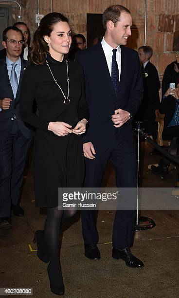 Catherine Duchess of Cambridge and Prince William Duke of Cambridge attend the Creativity is GREAT reception on December 9 2014 in New York City