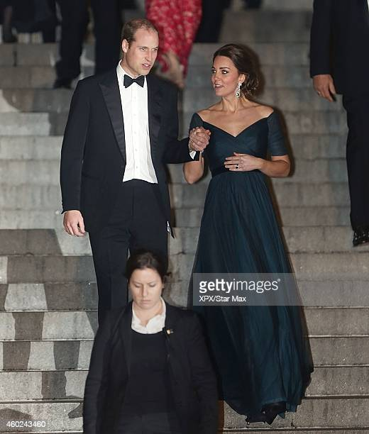 Catherine, Duchess of Cambridge and Prince William, Duke of Cambridge leave St. Andrews 600th Anniversary Dinner at Metropolitan Museum of Art on...