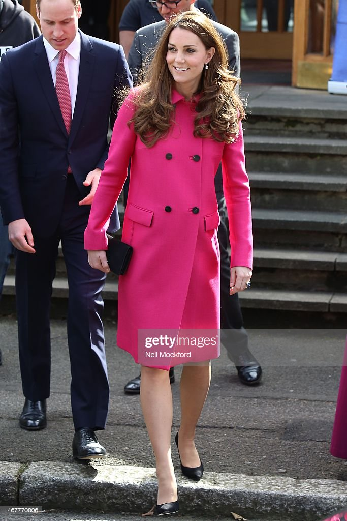 Catherine, Duchess of Cambridge and Prince William, Duke of Cambridge visit the XLP-Christ Church on March 27, 2015 in London, England.