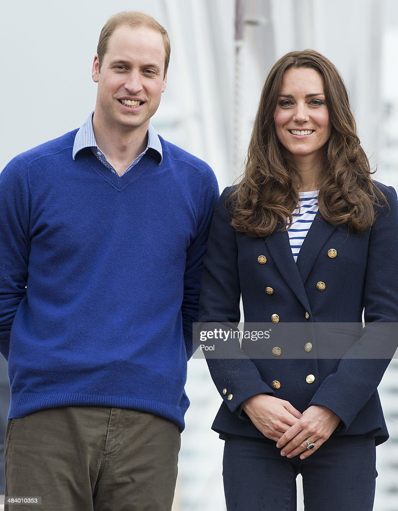 Catherine, Duchess of Cambridge and Prince William, Duke of Cambridge pose at Auckland Harbour on April 11, 2014 in Auckland, New Zealand. The Duke and Duchess of Cambridge are on a three-week tour of Australia and New Zealand, the first official trip overseas with their son, Prince George of Cambridge.