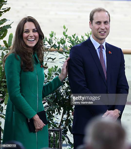 Catherine Duchess of Cambridge and Prince William Duke of Cambridge attend Avantidrome where Their Royal Highnesses formally opened by unveiling a...