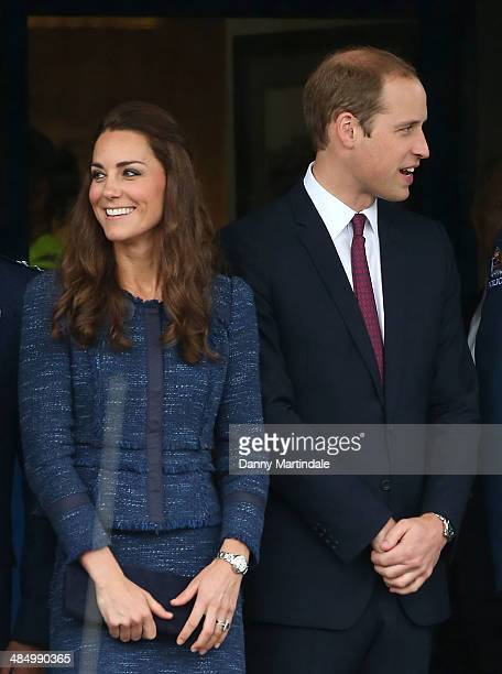 Catherine Duchess of Cambridge and Prince William Duke of Cambridge visit the Royal New Zealand Police College in Aotea Porirua City on April 16 2014...