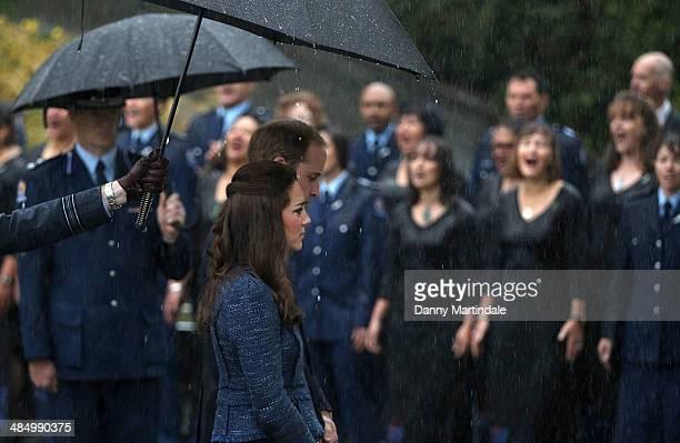 Catherine Duchess of Cambridge and Prince William Duke of Cambridge visit the Royal New Zealand Police College in Aotea Porirua City on April 16 2014...