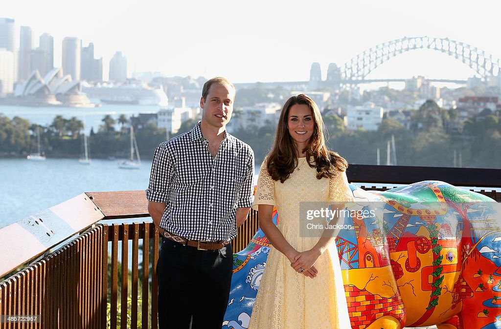 Catherine, Duchess of Cambridge and Prince William, Duke of Cambridge during a visit to Taronga Zoo on April 20, 2014 in Sydney, Australia. The Duke and Duchess of Cambridge are on a three-week tour of Australia and New Zealand, the first official trip overseas with their son, Prince George of Cambridge.