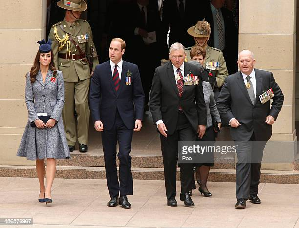 Catherine, Duchess of Cambridge and Prince William, Duke of Cambridge arrives at the Australia War Memorial with Ken Doolan , National President of...