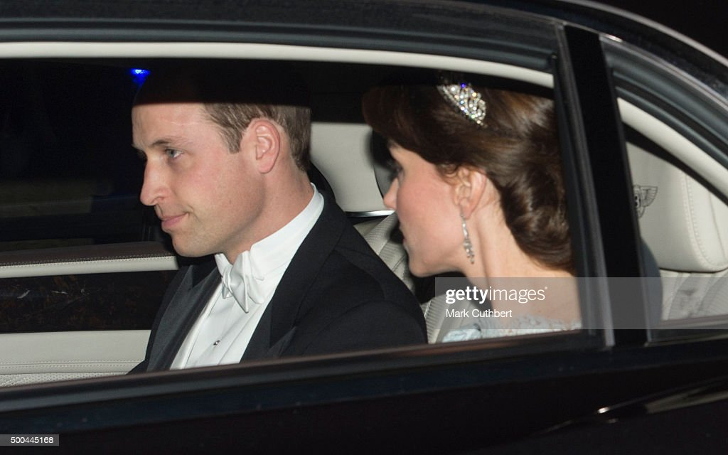 Catherine, Duchess of Cambridge and Prince William, Duke of Cambridge attend the Diplomatic Reception at Buckingham Palace on December 8, 2015 in London, England.