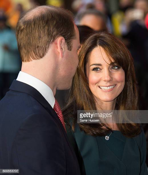 Catherine, Duchess of Cambridge and Prince William, Duke of Cambridge attend the ICAP charity day at ICAP on December 9, 2015 in London, England.