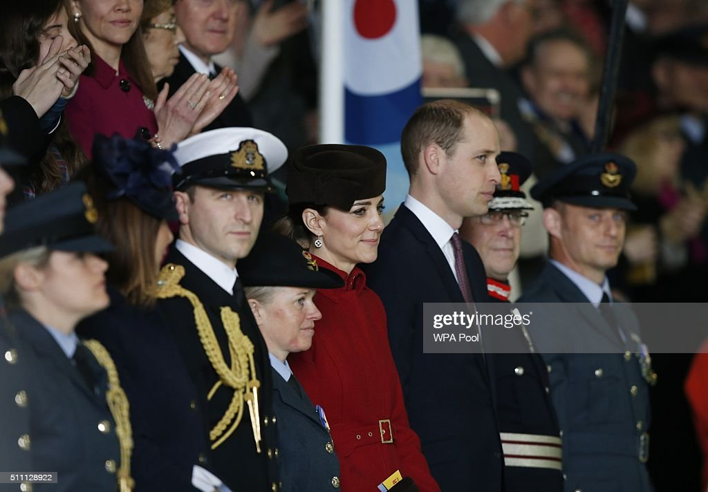 The Duke And Duchess Of Cambridge Visit RAF Valley : News Photo