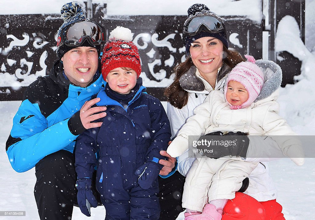 The Duke and Duchess of Cambridge Enjoy Skiing Holiday : News Photo