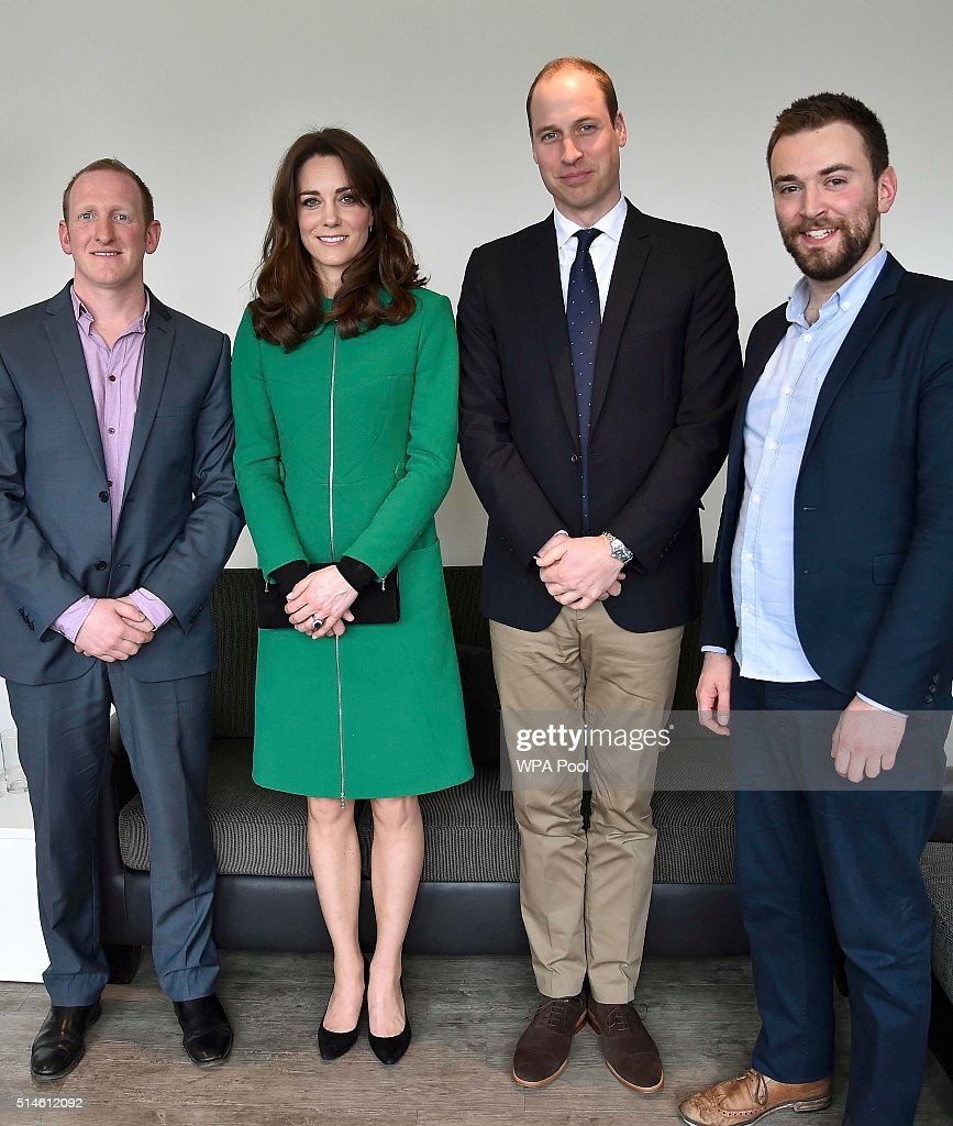 The Duke And Duchess Of Cambridge Visit Organisations Working To Prevent Suicide : News Photo