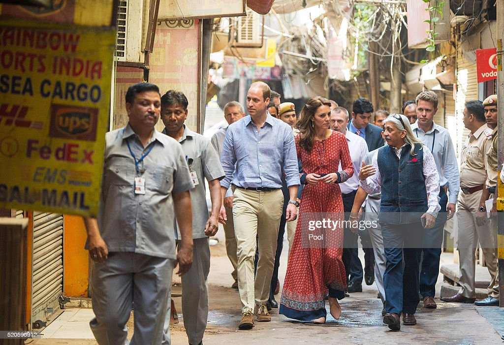 The Duke and Duchess Of Cambridge Visit India and Bhutan - Day 3 : News Photo