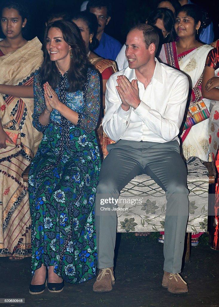 The Duke & Duchess Of Cambridge Visit India and Bhutan - Day 3 : News Photo