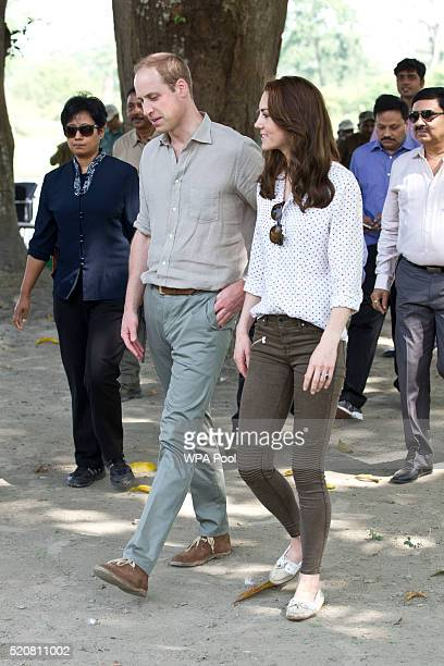 Catherine Duchess of Cambridge and Prince William Duke of Cambridge take a Game drive at Kaziranga National Park at Kaziranga National Park on April...