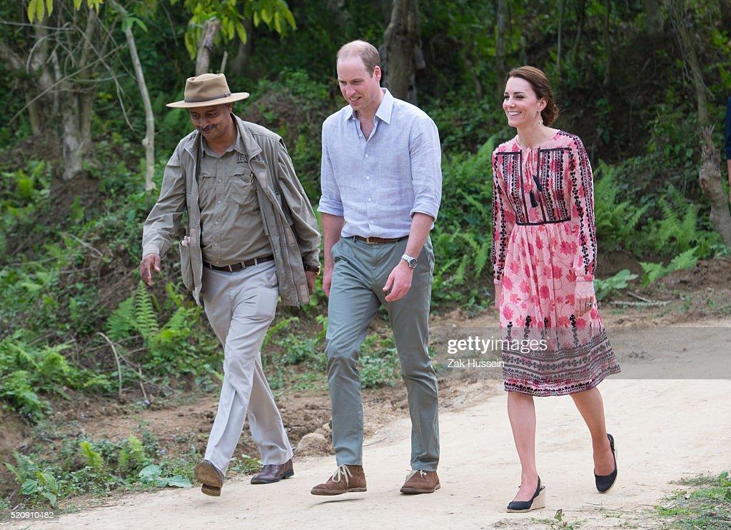 The Duke and Duchess Of Cambridge Visit India and Bhutan - Day 4 : News Photo