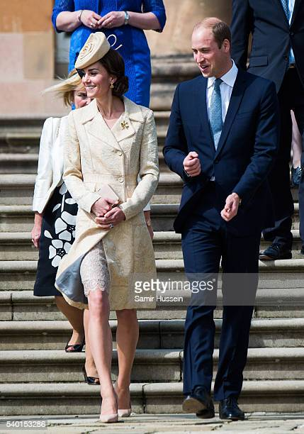 Catherine Duchess of Cambridge and Prince William Duke of Cambridge attend the Secretary of State's annual Garden party at Hillsborough Castle on...